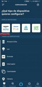 Configuración de Amazon Echo en la Alexa App