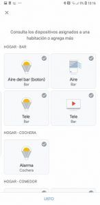 control de dispositivos inteligentes con google home