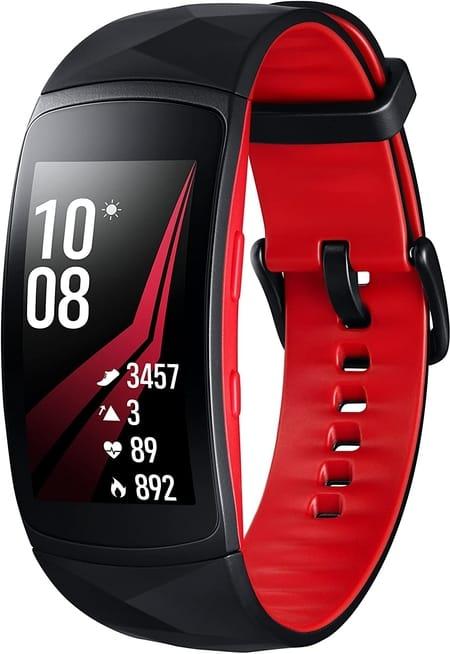 Pulsera inteligente samsung gear fit 2 roja en oferta